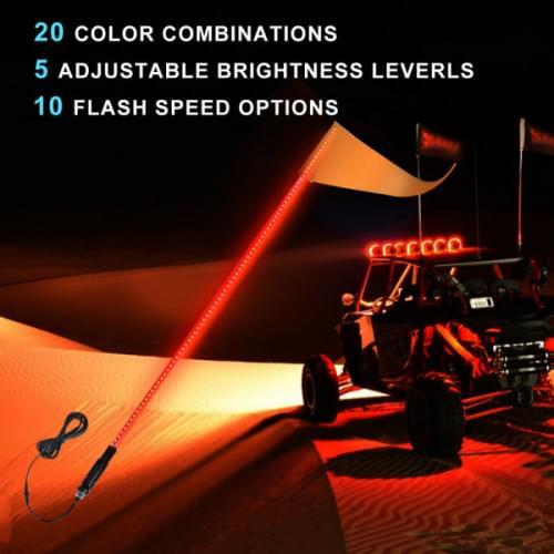 Флагшток с LED подсветкой МАТОВЫЙ (Как оптоволокно) и пультом управления